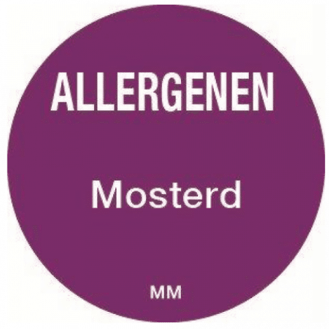 Allergie mosterd sticker rond 25mm Daymark
