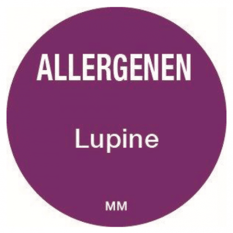 Allergie lupine sticker rond 25 mm Daymark