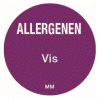 Allergie vis sticker rond 25 mm Daymark