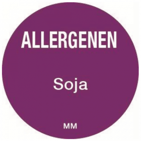 Allergie soja sticker rond 25 mm Daymark