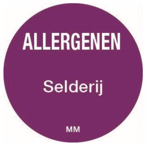 Allergie selderij sticker rond 25 mm Daymark