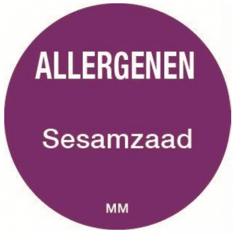 Allergie sesamzaad sticker rond 25 mm Daymark
