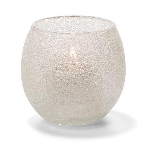 Theelicht luchtbel glas transparant 6,7 x 6 cm (Set van 12)