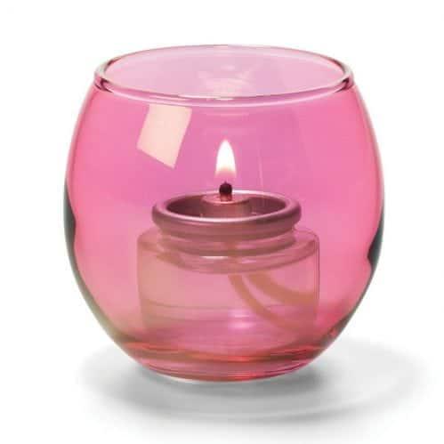 Theelicht luchtbel glas roze LightingPoint (set van 12)