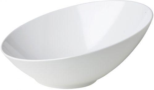 Schuine schaal wit 36 x 34,9 x 16,3 cm (Set van 3)