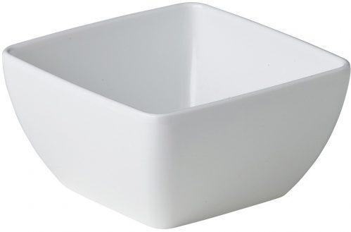 Gebogen vierkant bakje wit 12,9 x 12,9 x 6,5 cm (Set van 12)