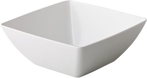 Gebogen vierkante bak wit 26,6 x 26,6 x 10,5 cm (Set van 6)