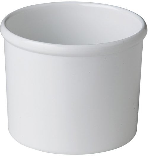 Dressingpot wit 850 ml (Set van 6)