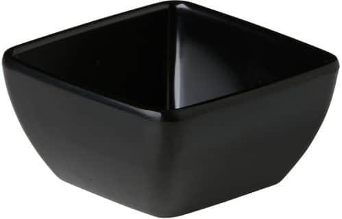 Gebogen vierkant bakje zwart 8,9 x 8,9 x 4,5 cm (Set van 12)