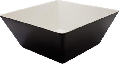 Vierkante bak Zwart / Wit 300x300x115 Melamine