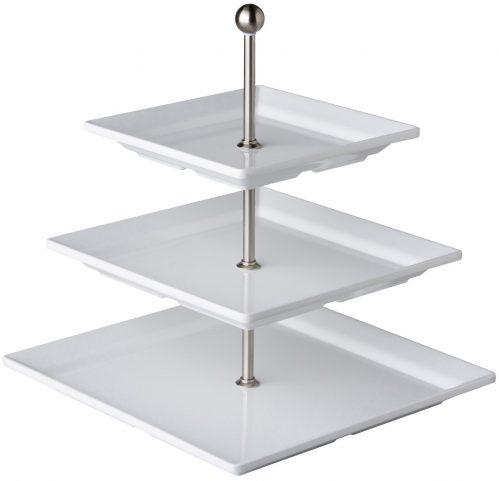 Etagere 3 borden vierkant 30,5 / 25,4 / 20,3 cm