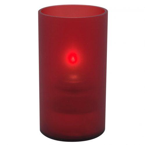 Cilinder acryl houder rood klein LightingPoint (set van 12)