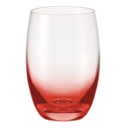 Waterglas rood 500ml GlassPoint