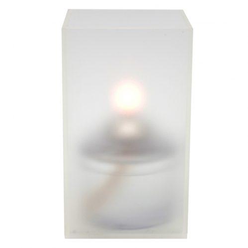 Vierkante acryl houder transparant groot LighttingPoint (set van 12)