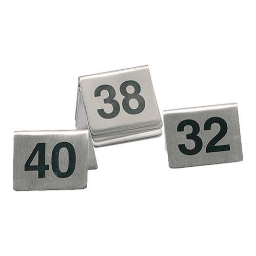Tafelnummers Set 41-50 Rvs