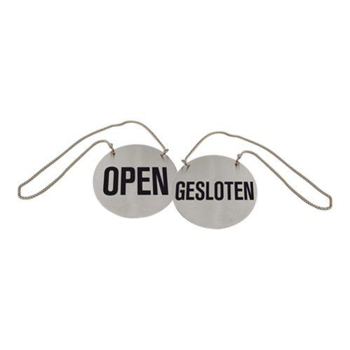 Deurbord Open/Gesloten+Ketting