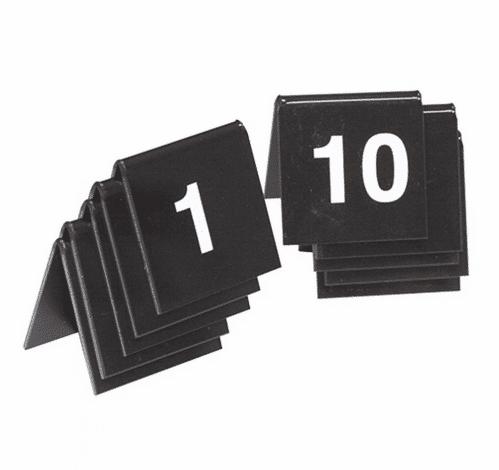 Tafelnummer Set 01-10 Zwart