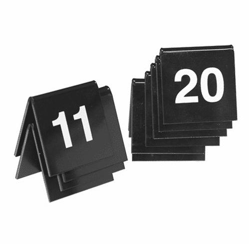 Tafelnummer Set 11-20 Zwart