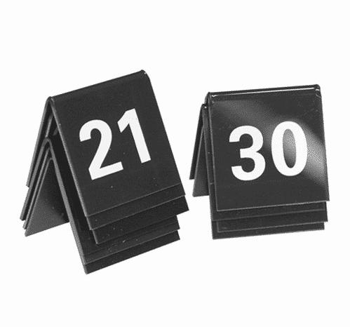 Tafelnummer Set 21-30 Zwart