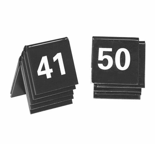 Tafelnummer Set 41-50 Zwart