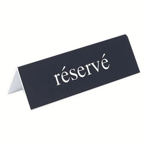 Bordje Reserve, C 13X4Cm