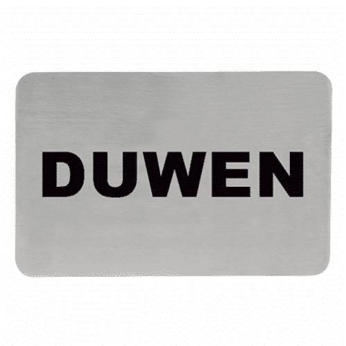 Tekstplaatje M Duwen