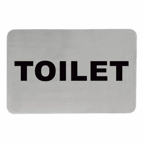 Tekstplaatje H Toilet