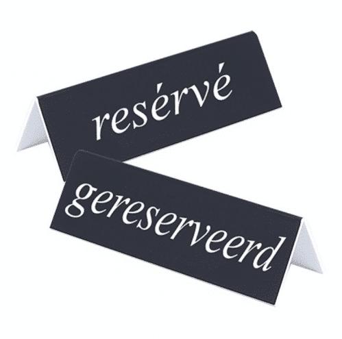 Bordje Gereserveerd/Reserve