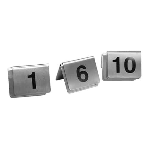 Tafelnummers Set 01-10 Rvs