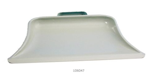 Stofblik 32×26 cm grijs metaal