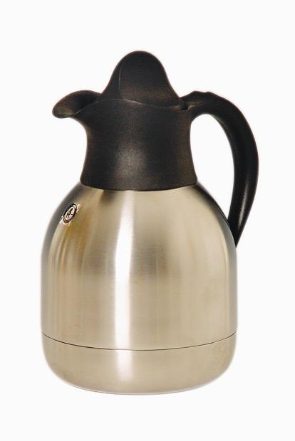 Thermoline Isoleerkan 1 liter dubbelwandig zwart (Set van 6)