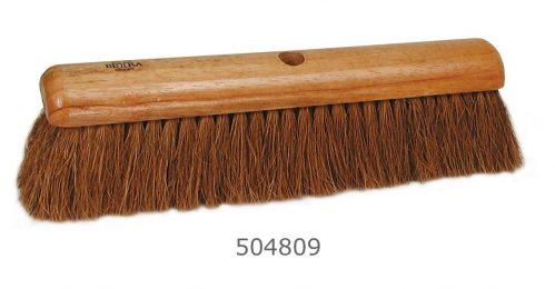 Zaalbezem 40 cm hout kokos haar