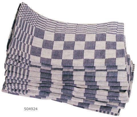 Theedoek 60×65 cm blauwe blok (Set van 10)