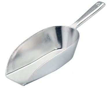 Schep 18,5 cm 0,11 liter aluminium (Set van 10)