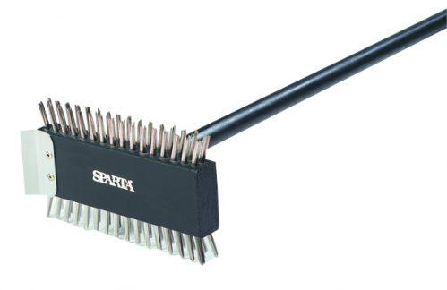 Staalborstel 76 cm met steel rvs haren (Set van 6)