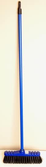Bezem 30 cm met steel 110 cm blauw