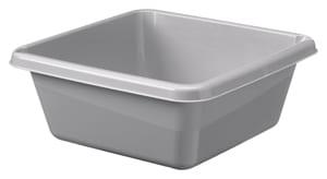 Afwasbak 10 liter vierkant grijs