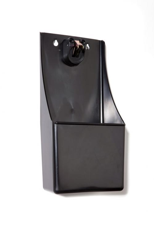 Flesopener met opvangbak zwart plastic