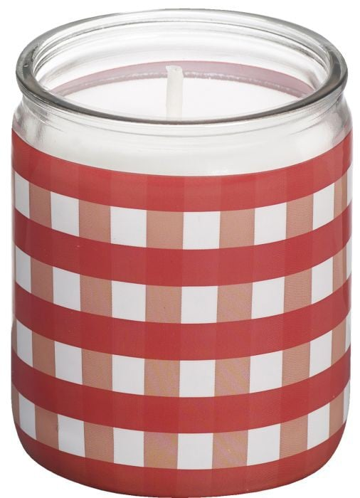 "Bolsius Star Light Moods ""Checkers"" Rood (set van 8)"