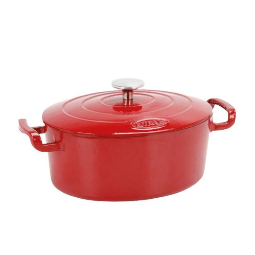 Cocotte ovaal rood 4L 26×21 cm