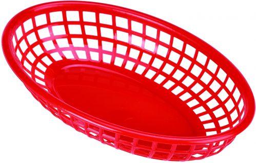 Fastfood mandje rood 23,5 x 15,4 cm (Set van 6)