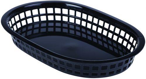 Fastfood mandje zwart 27,5 x 17,5 cm (Set van 6)