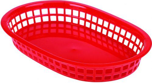 Fastfood mandje rood 27,5 x 17,5 cm (Set van 6)