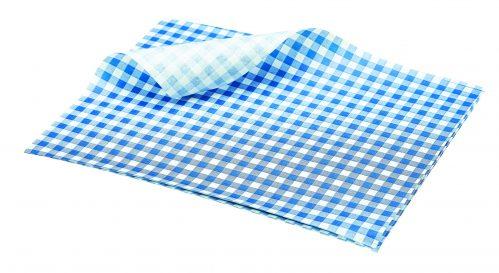 Vetvrij papier blauw geblokt 25 x 20 cm 1000st
