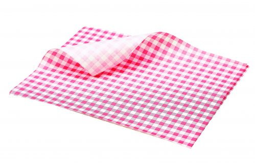 Vetvrij papier rood geblokt 25 x 20 cm 1000st