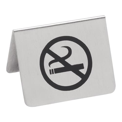 Bordje No Smoking 2 Zijdig