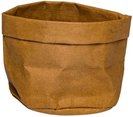 Broodmand papier wasbaar bruin 13 x 13 x 15