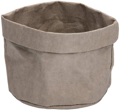 Broodmand papier wasbaar grijs 13 x 13 x 15