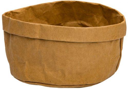 Broodmand papier wasbaar bruin 18 x 18 x 15