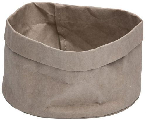 Broodmand papier wasbaar grijs 18 x 18 x 15